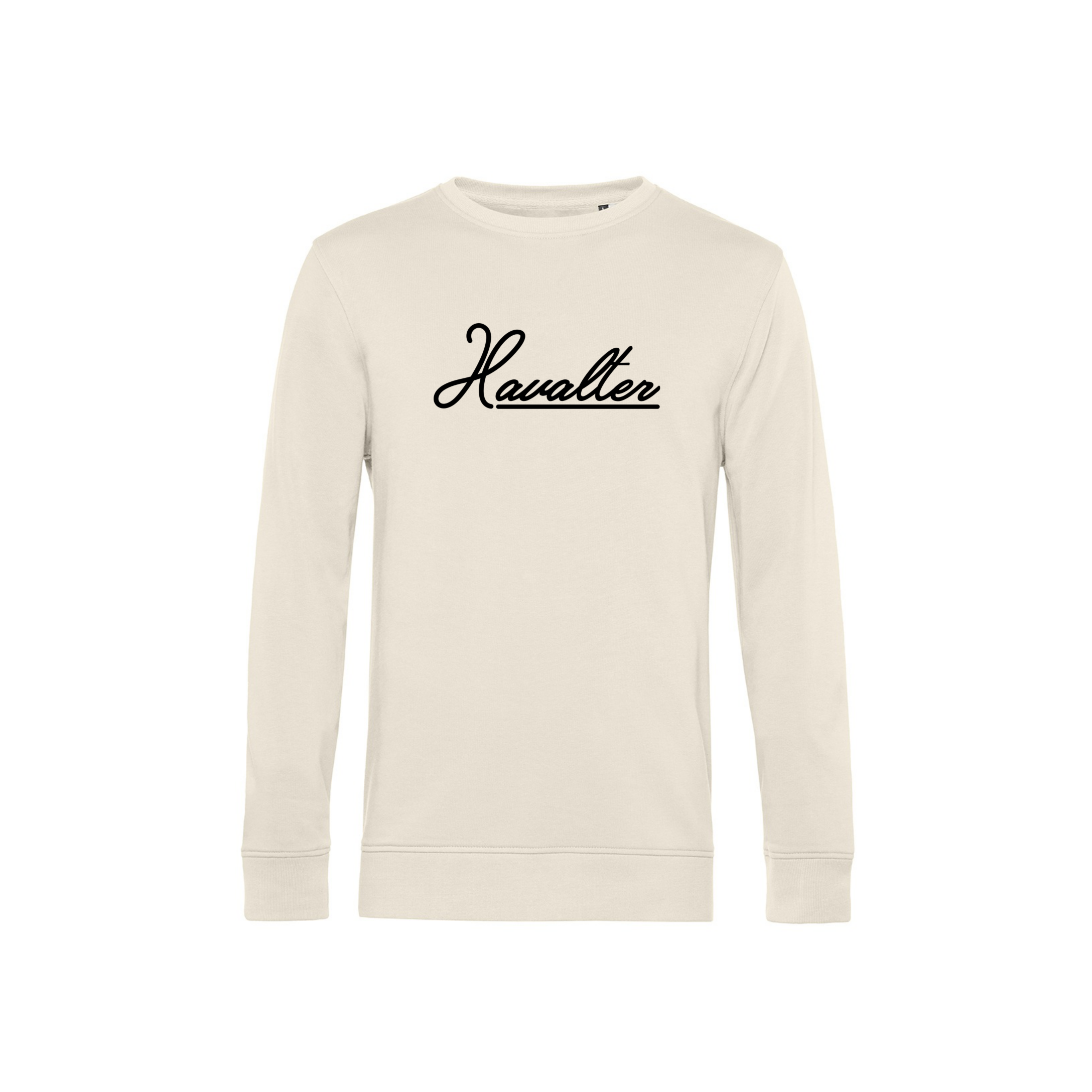 Havalter Sweater Cream Basic Logo, Unisex