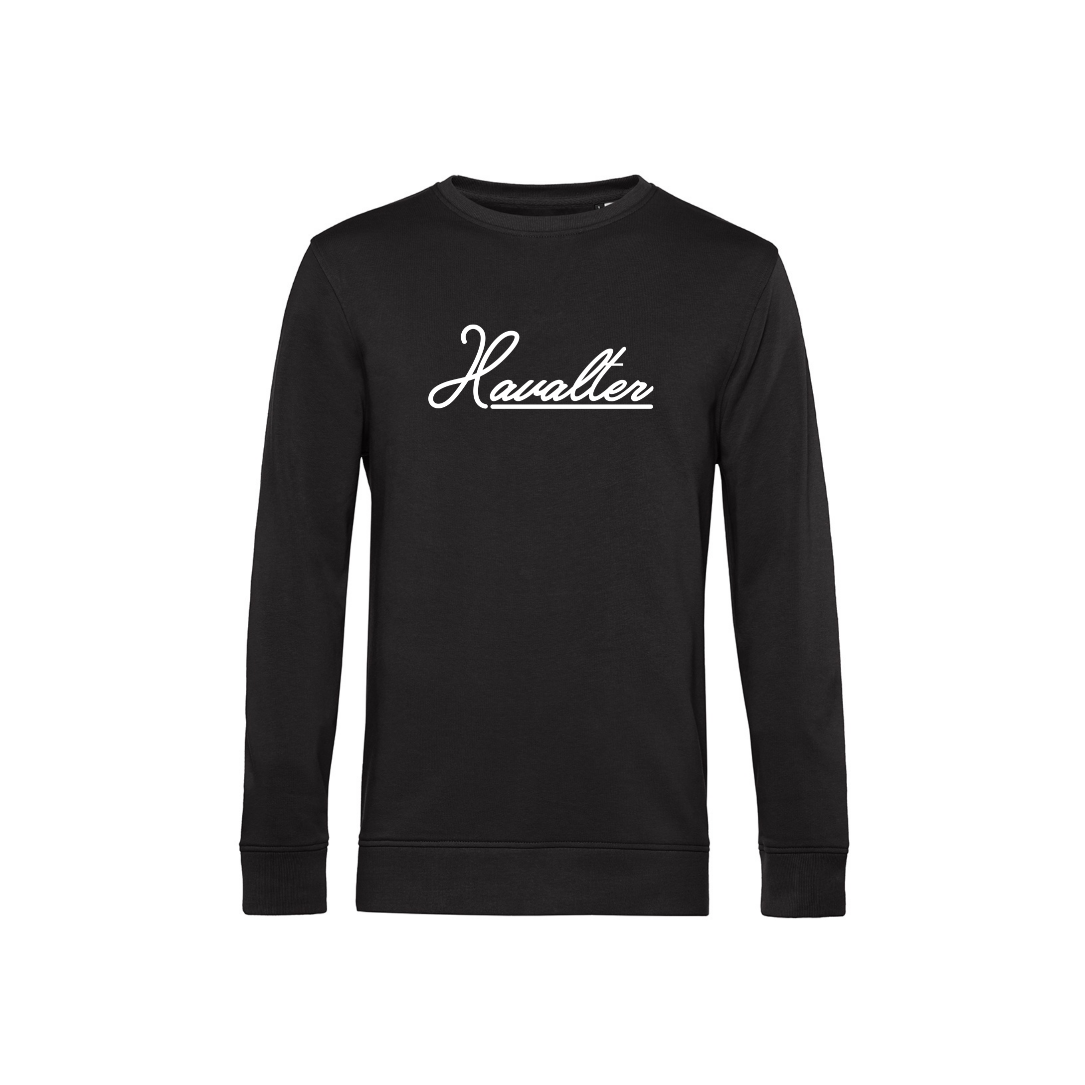 HAVALTER SWEATER BLACK BASIC LOGO, UNISEX