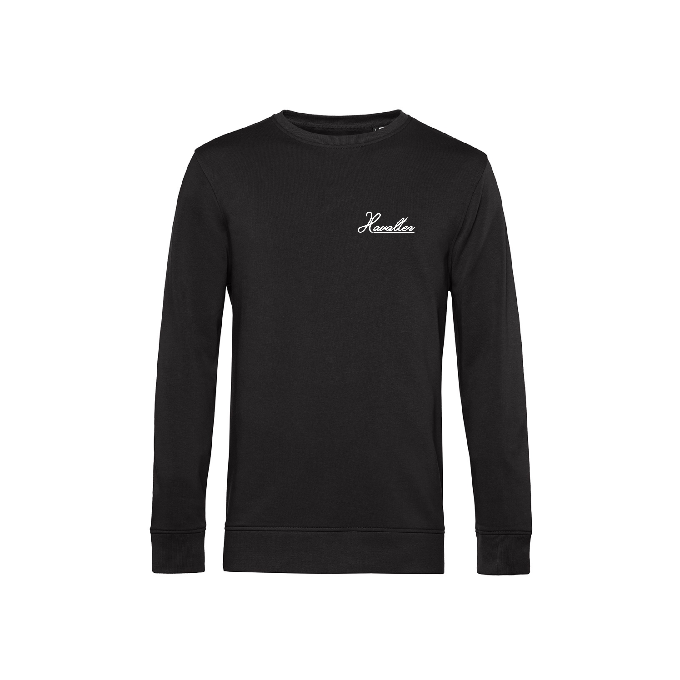 HAVALTER SWEATER BLACK SMALL LOGO, UNISEX