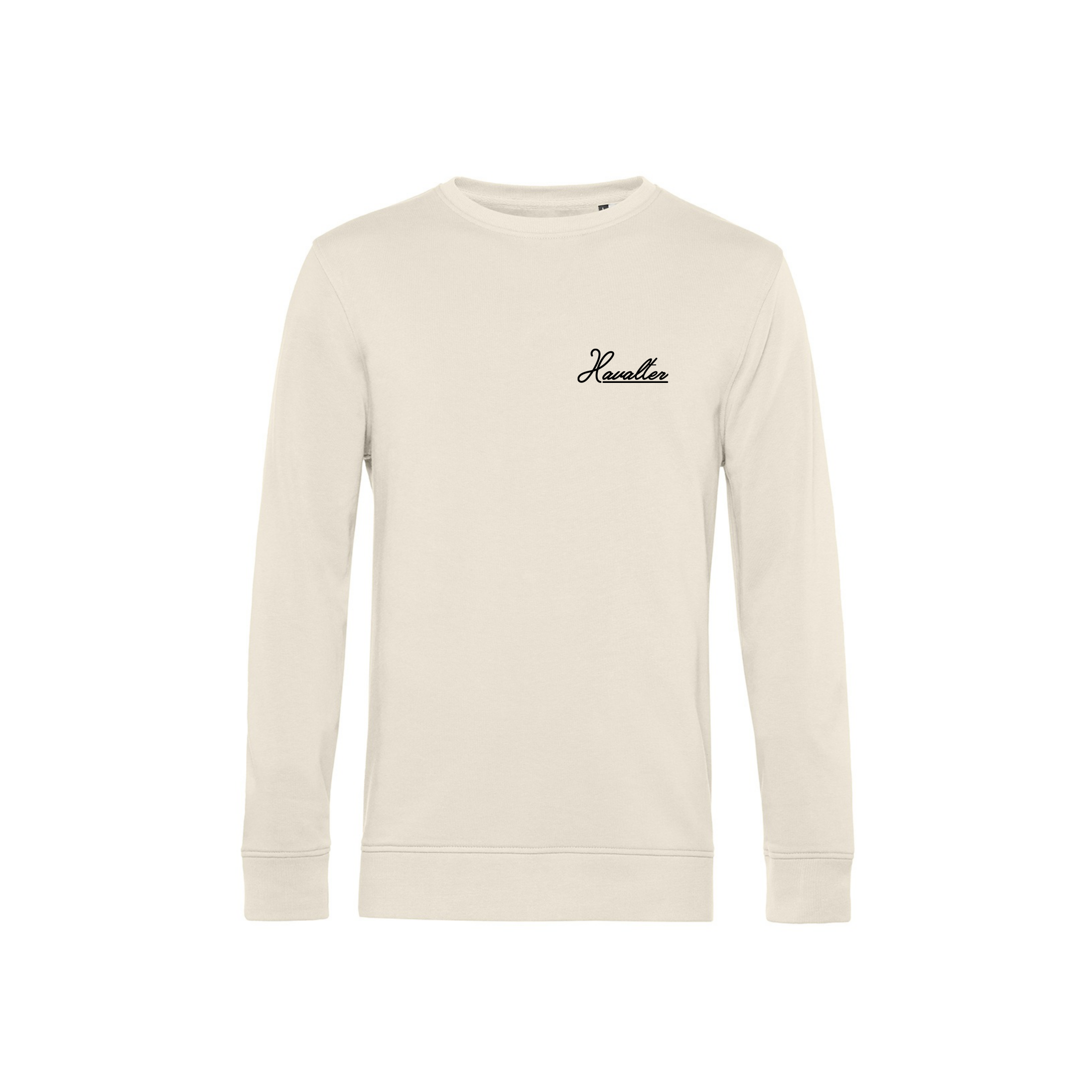HAVALTER SWEATER CREAM SMALL LOGO, UNISEX